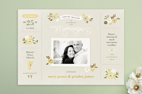 Sense and Sensibility Wedding Invitations by Jenni...