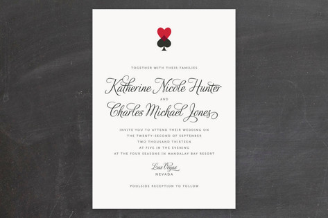 Hearts and Spades Wedding Invitations by Jill Mean...