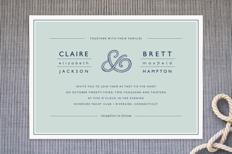 Rope Ampersand Wedding Invitations by Jill Means