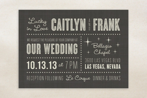 Lucky in Love Wedding Invitations by Susan Asbill