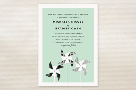Pinwheels Wedding Invitations by Jill Means