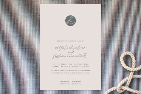 Blushing Wedding Invitations by Sydney Newsom
