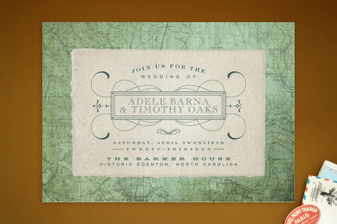 Tea and Topo Wedding Invitations by Sydney Newsom
