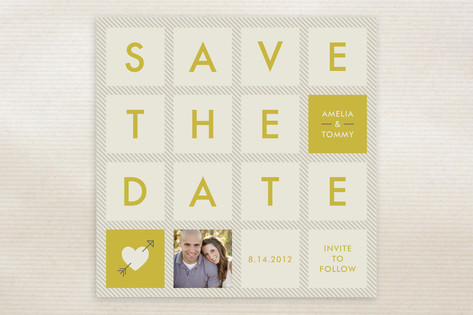 Squared Save the Date Cards by Amber Barkley