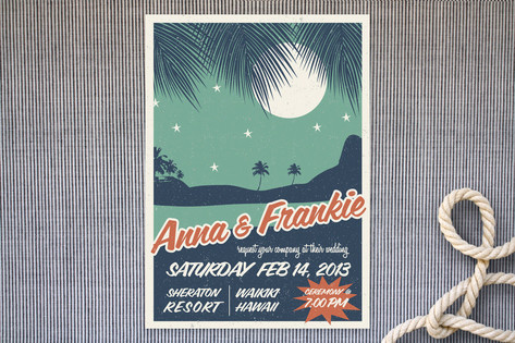 Retro Hawaii Wedding Invitations by Gakemi ArtDes...