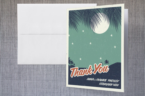 Retro Hawaii Thank You Cards by Gakemi ArtDesign