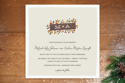 Meadow Wedding Invitations by The Occasional Hello