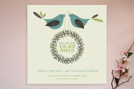 Two Little Birdies Told Me Save the Date Cards by ...