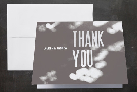 Bokeh Bride Thank You Cards by Andres Montao