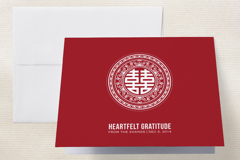 Double Happiness Seal Thank You Cards by guess wha...