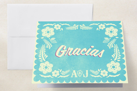 Papel Picado Thank You Cards by Andres Montao