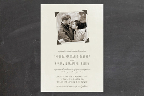 Moment in Time Wedding Invitations by The Social T...