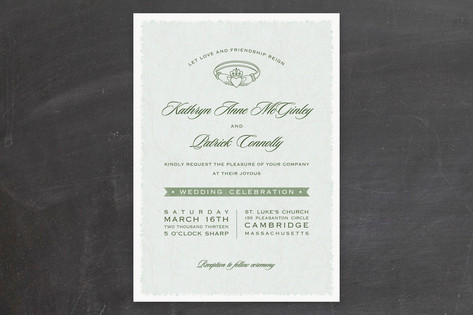 Classic Claddagh Wedding Invitations by Hooray Cre...