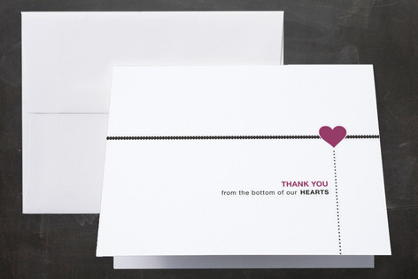 A Love Story Thank You Cards by Kayla Grunder