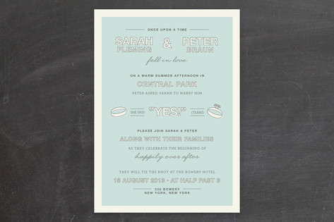 Fell in Love Wedding Invitations by The Social Typ...