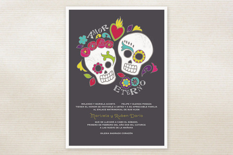 Dia de los Muertos Wedding Invitations by Inky Liv...