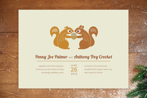 I'm Nuts for You Wedding Invitations by Kimberly M...