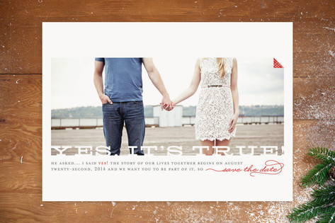 Yes It's True Save the Date Cards by Jana Volfova