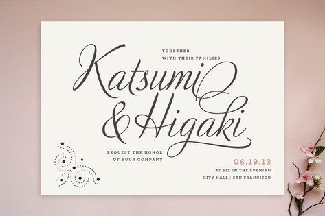 Dotted and Brush Wedding Invitations by Tyler Tea
