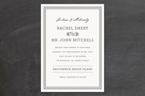 Time and All Eternity Wedding Invitations by j.bar...