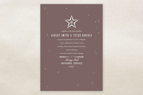 In the Stars Wedding Invitations by Kimberly Nicol...