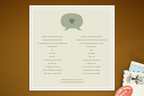 Language of Love Wedding Invitations by VOSS