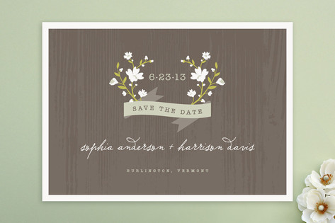 Woodland Save the Date Cards by Kristie Kern