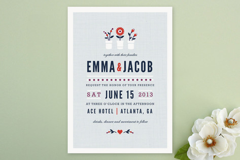 Flower Vases Wedding Invitations by Kristen Smith