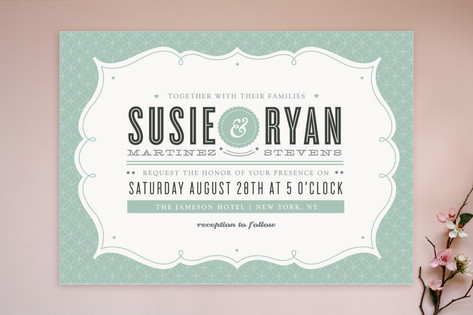 Modern Label Wedding Invitations by Kristen Smith