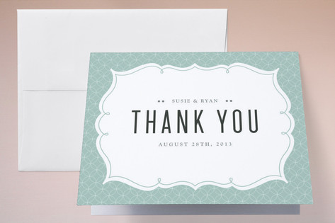 Modern Label Thank You Cards by Kristen Smith