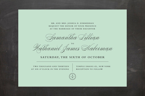 Notable Wedding Invitations by Wondercloud Design