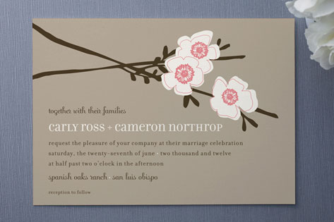 Apple Blossom Wedding Invitations by annie clark