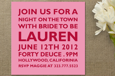Block Bachelorette Party Invitations by The Social...