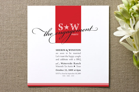 Texan Star Engagement Party Invitations by Dizzy W...