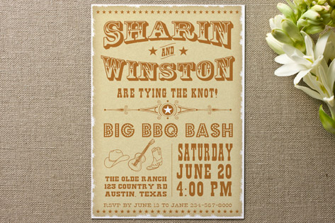 Vintage Western Engagement Party Invitations by Ga...