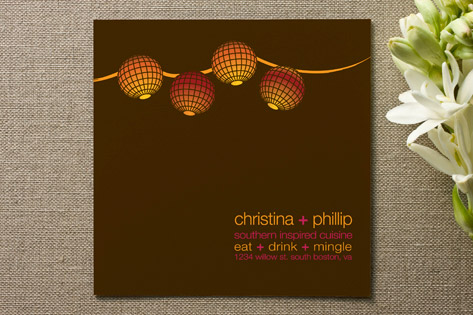 Eat  drink  mingle Engagement Party Invitations...