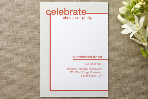 Fancy Free Rehearsal Dinner Invitations by Andrea ...