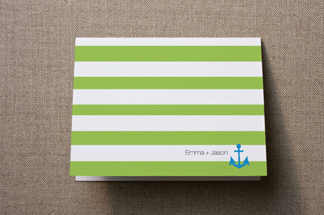 Anchors Aweigh Thank You Cards by Tres Chic Design...