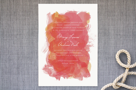 Aquarelle Wedding Invitations by Paper Plains