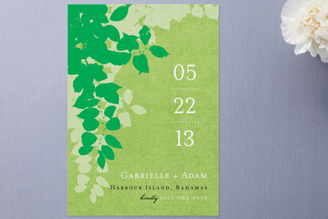 Spring leaves Save the Date Cards by Amanda Larsen...