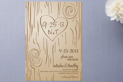 Fall Carving Save the Date Cards by Amanda Joy