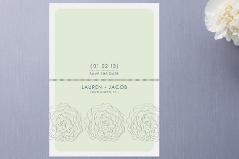 Wavy Flowers Save the Date Cards by stacey day