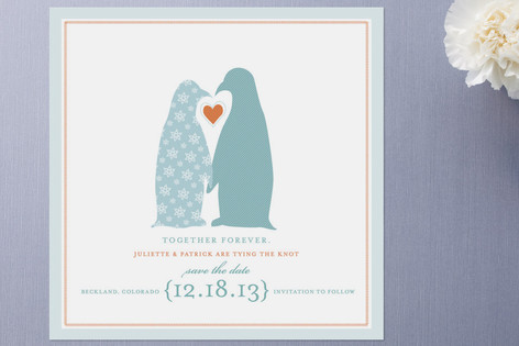 Penguins Save the Date Cards by pottsdesign