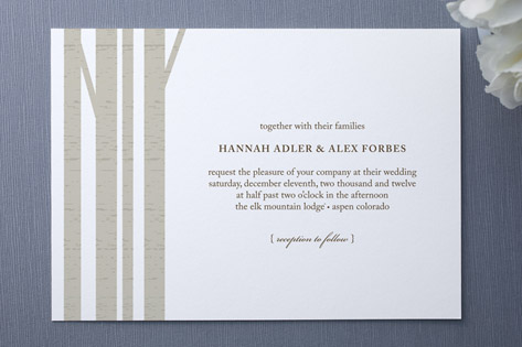 Winter Birch Wedding Invitations by marabou design