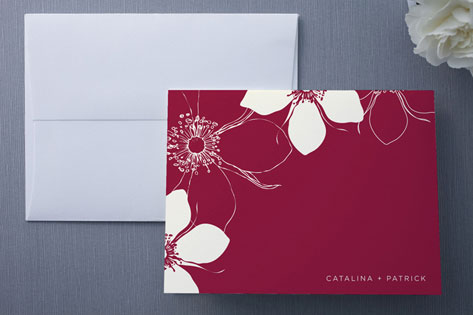 Modern Lotus Thank You Cards by Milkmaid Press