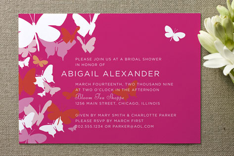 Butterfly Gathering Bridal Shower Invitations by C...