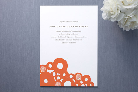 Boulders Wedding Invitations by Oscar & Emma