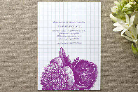 Bibliotheque Bridal Shower Invitations by beth per...