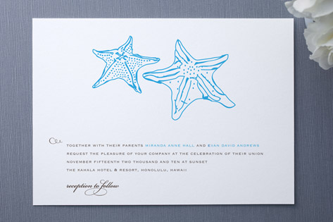 Beyond the Sea Wedding Invitations by SimpleTe Des...