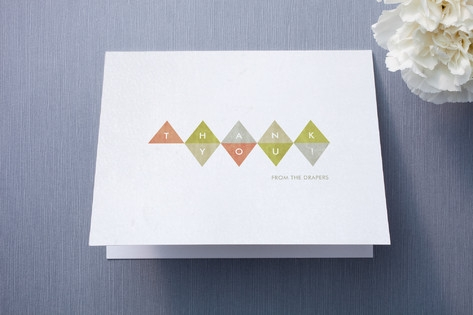 Modern Geometry Thank You Cards by carly reed
